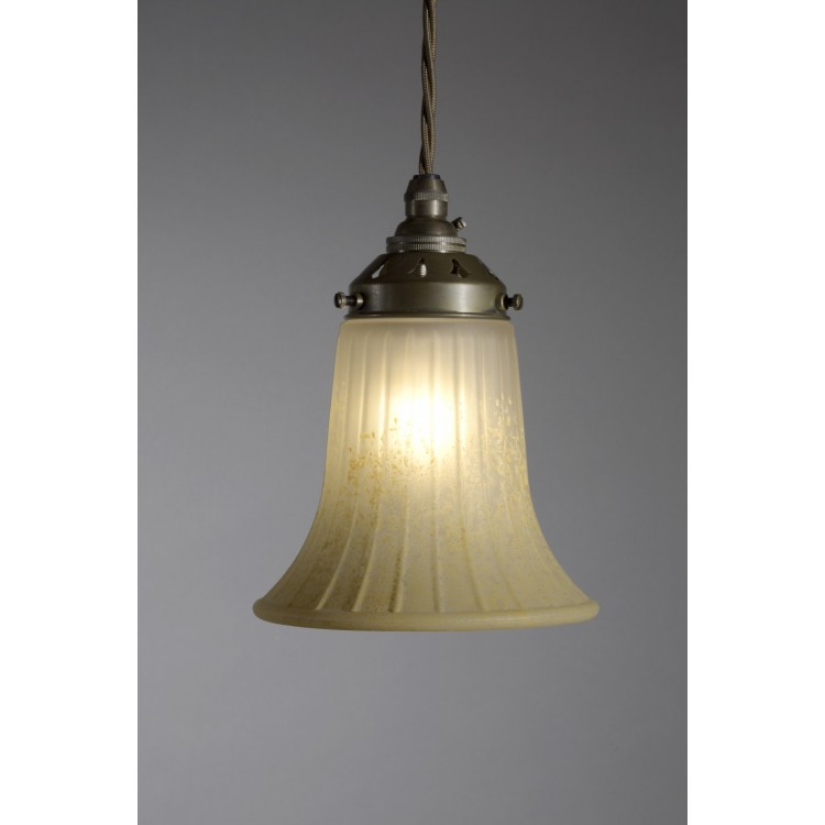 Pendant Drop with Apricot Fluted Bell Shade