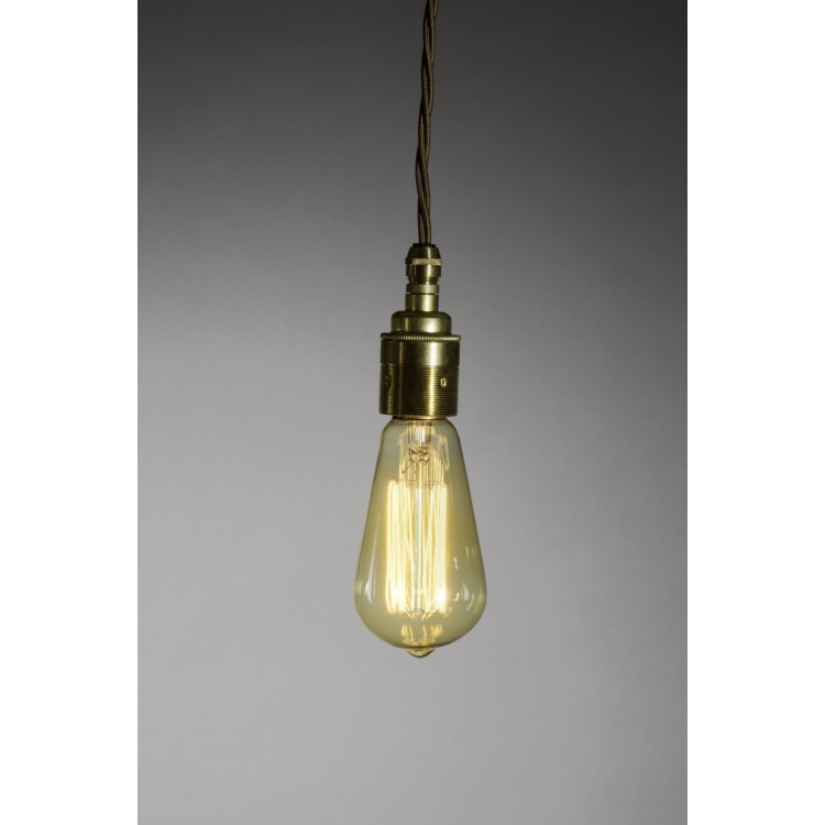 Pendant Drop with Squirrel Cage Filament Lamp